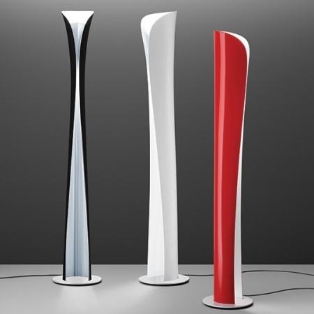 Artemide – stojací lampa Cadmo červená/bílá