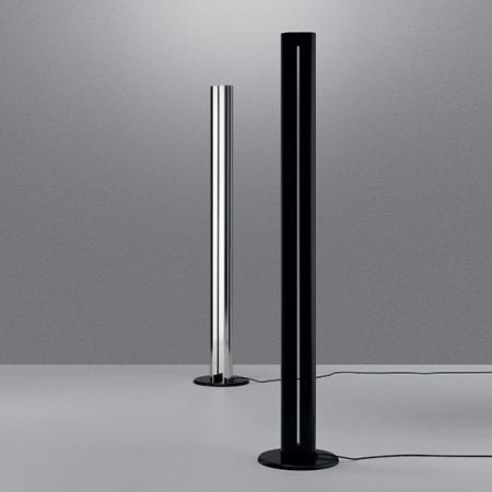 Artemide – stojací lampa Megaron - leštěný hliník