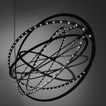 Artemide – závěsná svítidla Copernico černá
