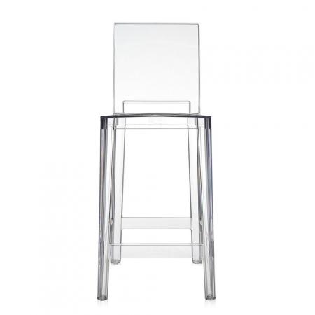 Set 2 barových židlí One More Please transparentní čirá, Kartell