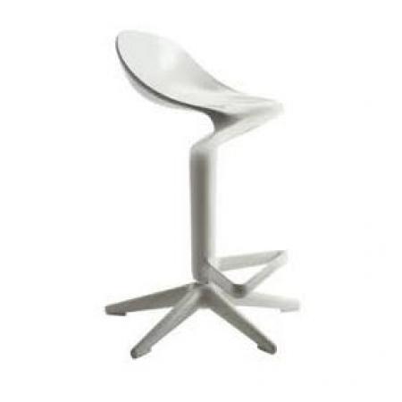 Barová židle Spoon bílá, Kartell