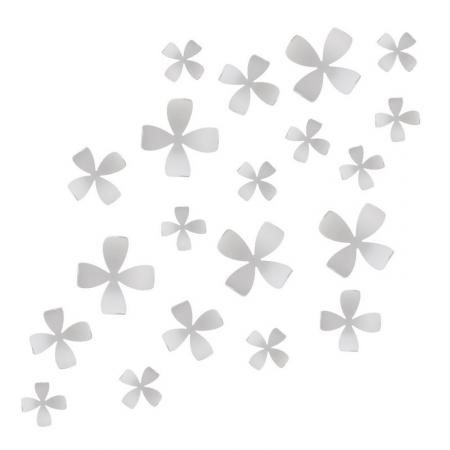 Dekorační květy na zeď bílá, Umbra