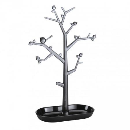 Dekorační strom PI:P L černá/transp. antracitová, Koziol