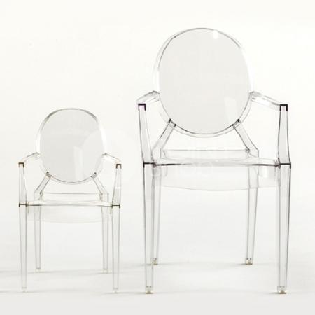 Set 4 dětských židlí Lou Lou Ghost transparentní čirá, Kartell