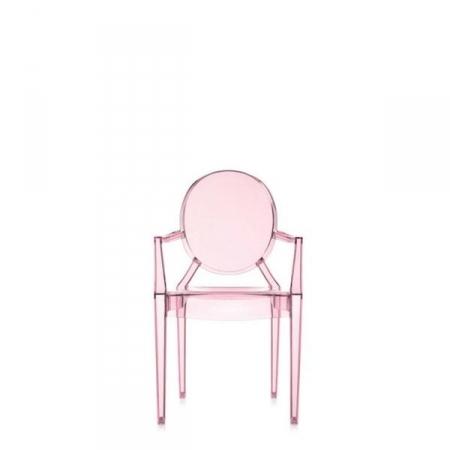 Set 4 dětských židlí Lou Lou Ghost transparentní růžová, Kartell