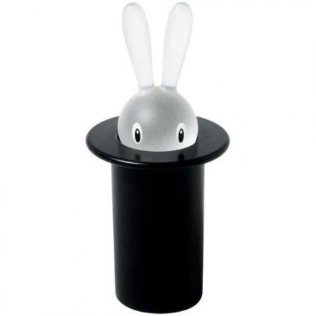 Dóza na párátka Magic Bunny ASG16 černá, Alessi