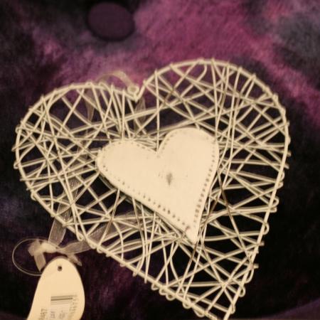 Drátěné srdce bílé