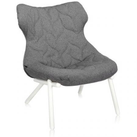 Křeslo Foliage šedé (100% polyester Trivira), Kartell