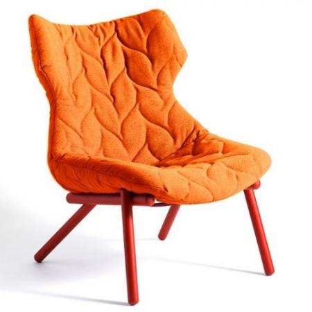 Křeslo Foliage oranžové (100% polyester Trivira), Kartell