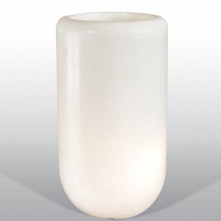 Květináč Pill svítící bílý, Bloom