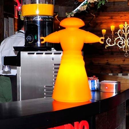 Lampa Mr. Bot oranžová, Slide design