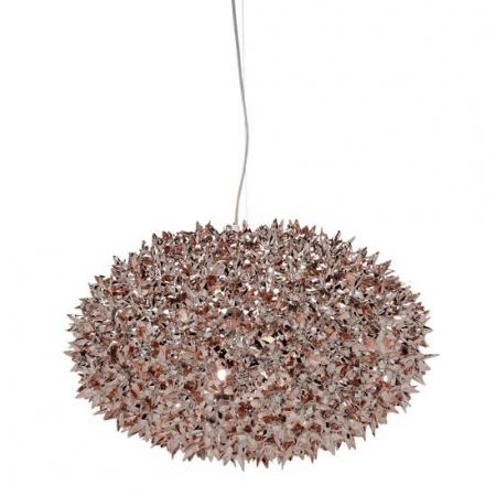 Metalické závěsné svítidlo Bloom bronzové, Kartell
