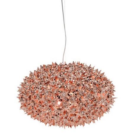 Metalické závěsné svítidlo Bloom měděné, Kartell