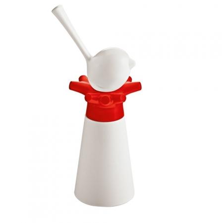 Mlýnek na pepř a slánka PI:P bílá/červená/bílá, Koziol