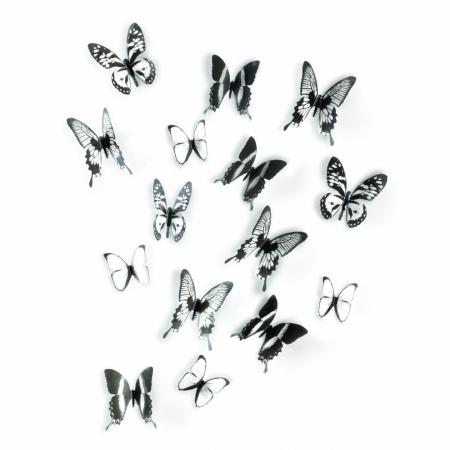 Nástěnná dekorace Motýli černobílá, Umbra