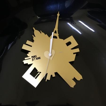 Nástěnné hodiny Paris je t´aime zlaté, Empola