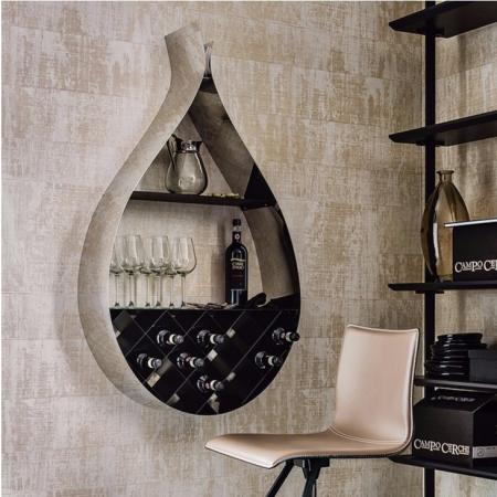 Nástěnný stojan na víno Drop, Cattelan Italia