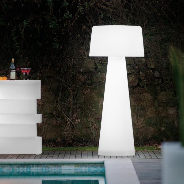 Venkovní stojací lampa Time Out bílé, Pedrali