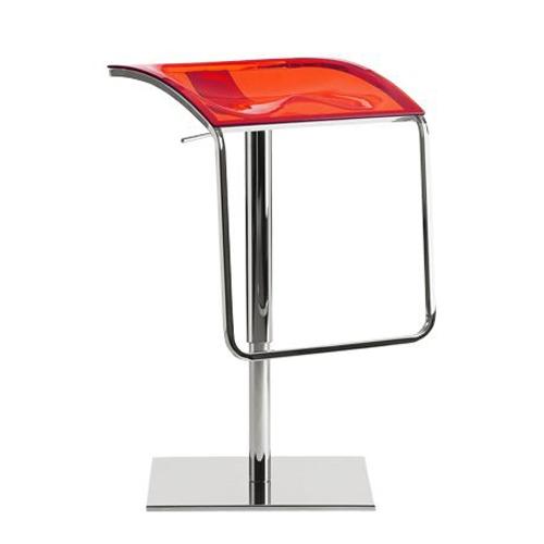 Sada 2 barových židlí Arod 570 transparentní červená, pedrali