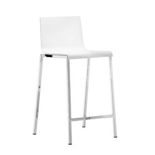Sada 4 barových židlí Kuadra 1102 bílá, Pedrali