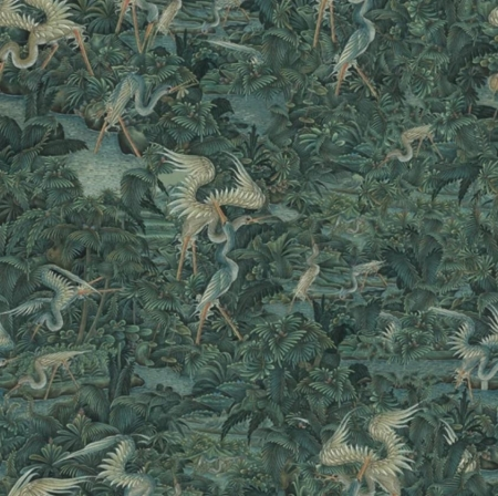 Panel Onirique Cala Luna hunter green, Decoprint
