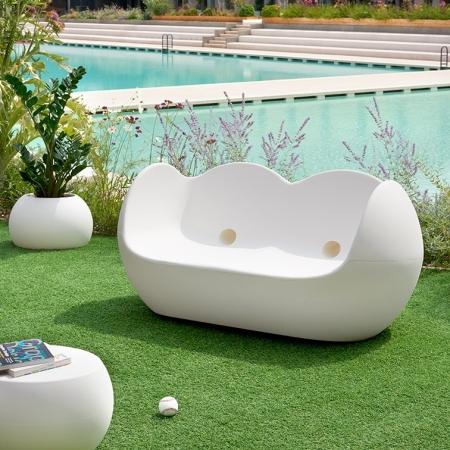 Pohovka Blossy bílá, Slide design