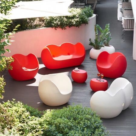 Pohovka Blossy červená, Slide design