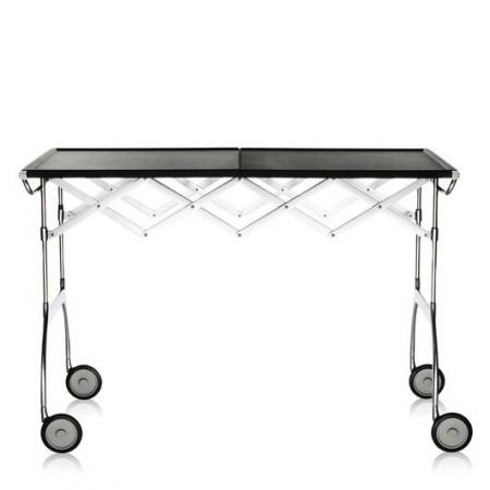 Pojízdný stolek Battista černý, Kartell