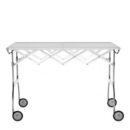 Pojízdný stolek Battista bílý, Kartell
