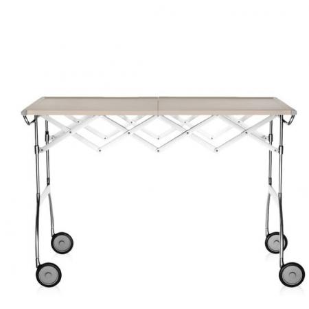 Pojízdný stolek Battista krémová, Kartell