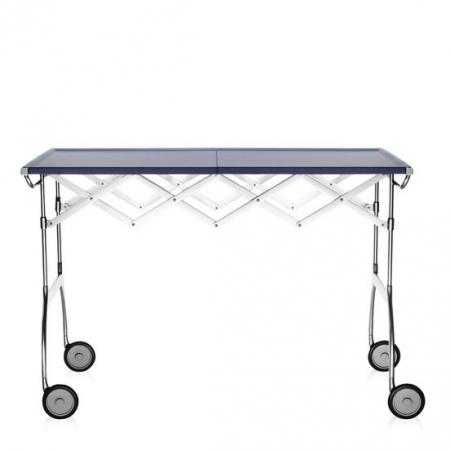 Pojízdný stolek Battista modrý, Kartell