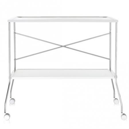 Pojízdný stolek Flip bílý, Kartell