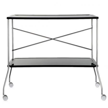 Pojízdný stolek Flip černý, Kartell