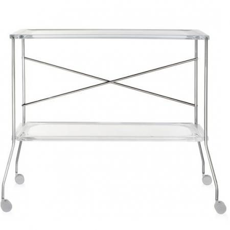 Pojízdný stolek Flip transparentní čirá, Kartell