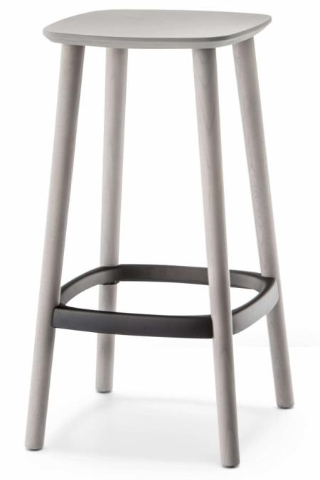 Sada 2 barových židlí Babila 2702 světle šedá, Pedrali