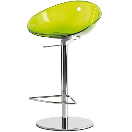 Sada 2 barových židlí Gliss 970 transparentní zelená, Pedrali
