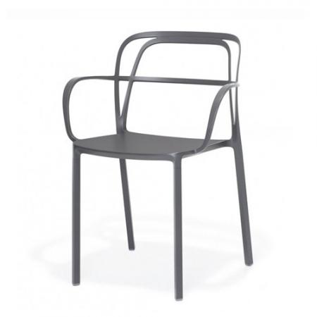 Sada 2 židlí Intrigo 3715 antracitová, Pedrali