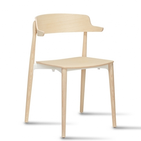 Sada 2 židlí Nemea 2825 bělený dub, Pedrali