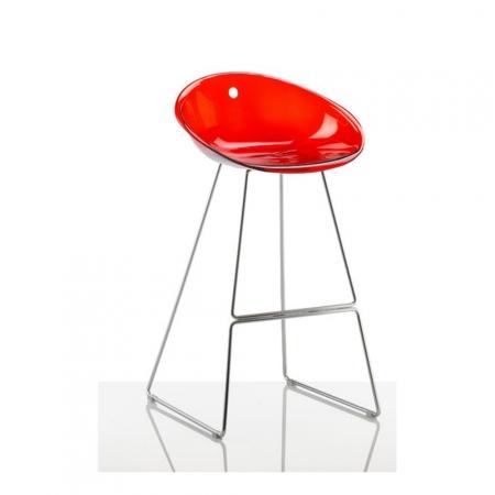 Sada 4 barových židlí Gliss 902 transparentní červená, Pedrali