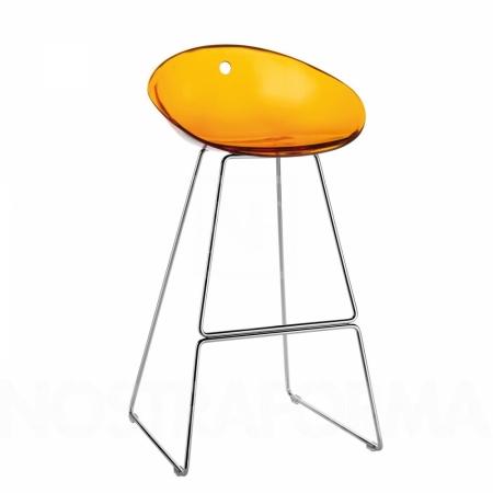 Sada 4 barových židlí Gliss 902 transparentní oranžová, Pedrali