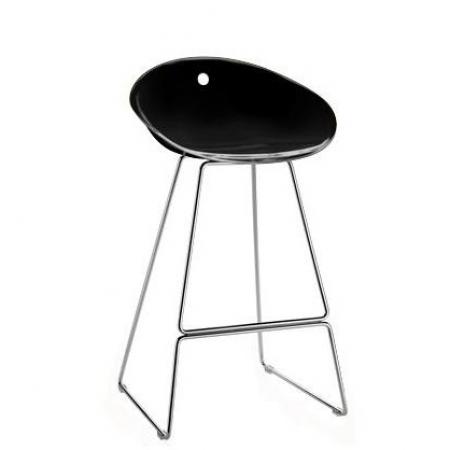 Sada 4 barových židlí Gliss 902 černá, Pedrali
