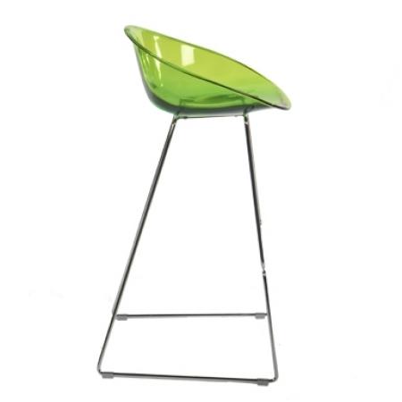 Sada 4 barových židlí Gliss 902 transparentní zelená, Pedrali