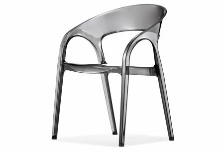 Sada 4 židlí Gossip 620 transparentní kouřová, Pedrali