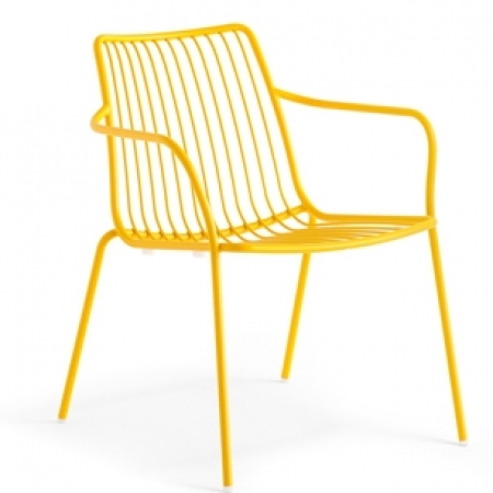 Sada 4 židlí Nolita 3655 žlutá, Pedrali
