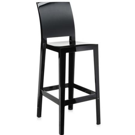 Set 2 barových židlí One More Please černá, Kartell