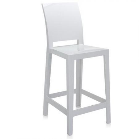 Set 2 barových židlí One More Please bílá, Kartell