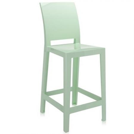 Set 2 barových židlí One More Please zelená, Kartell