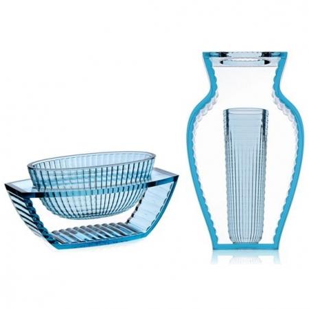 Set 2 váz I Shine, U Shine transparentní modrá, Kartell