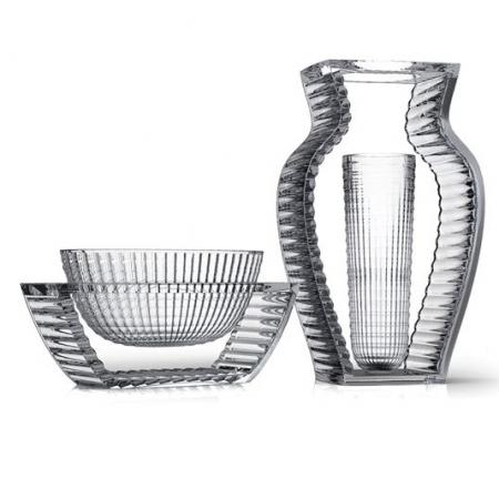 Set 2 váz I Shine, U Shine transparentní šedá, Kartell