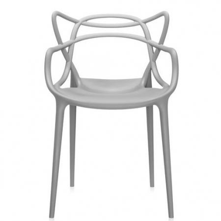 Set 2 židlí Masters šedá, Kartell